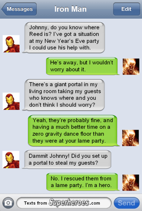new years Fantastic Four iron man - 8415403520