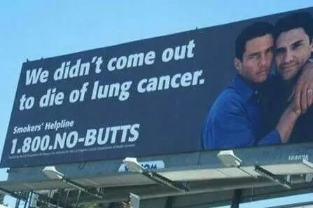 butt lung cancer men smoking funny - 8415404800