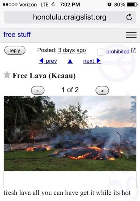 craigslist Hawaii lava - 8415412480