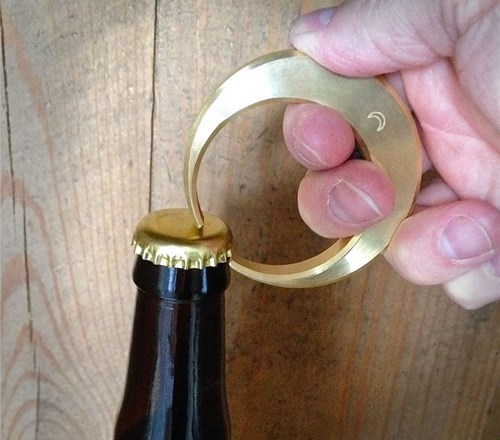 beer bottle opener moon crescent funny - 8415423744