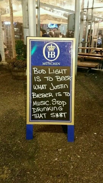 bud light beer sign crappy funny
