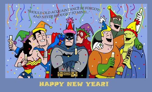 new years,justice league,batman