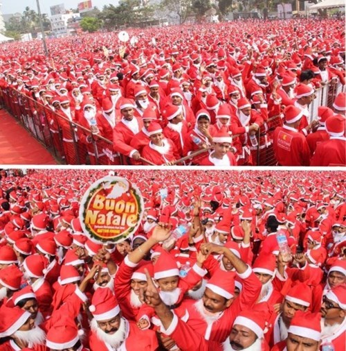christmas,santa,world record