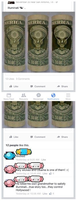 illuminati,Aliens,conspiracy,barack obama,money,failbook,g rated