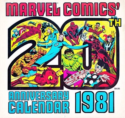 marvel new years 1981 calendars