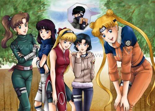 crossover Fan Art sailor moon naruto - 8416704512
