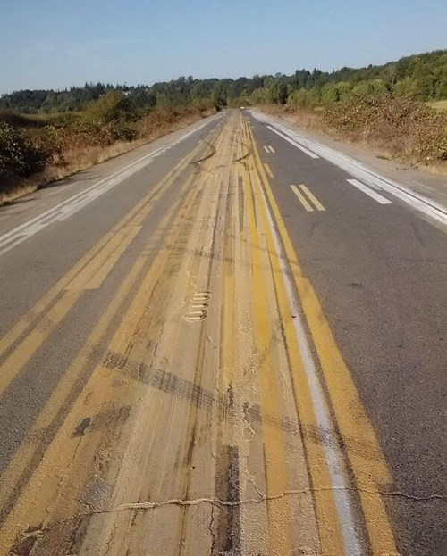 monday thru friday road paint painting - 8416923648