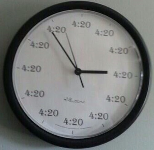 420 blazed clock funny - 8416964864