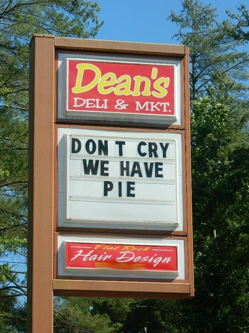 monday thru friday,sign,restaurant,pie,g rated