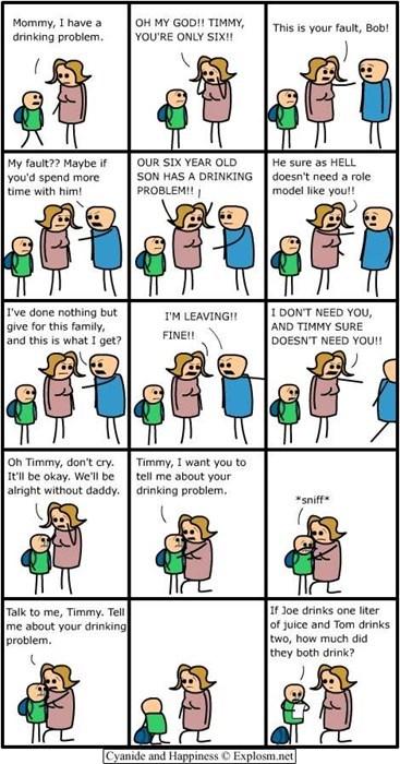 homework kids family funny drinking problem - 8417019904