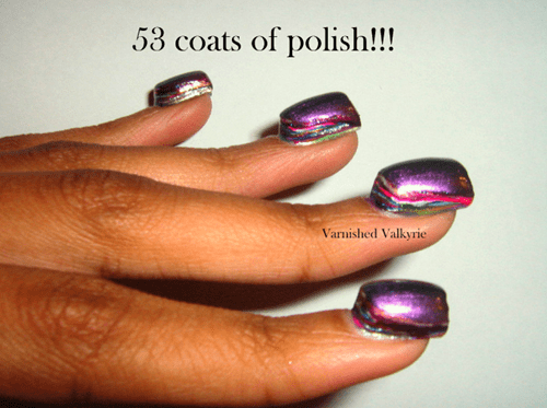 excessive nail polish nails poorly dressed - 8417042944