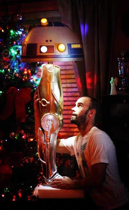 r2d2,lamp,c3p0,A Christmas Story