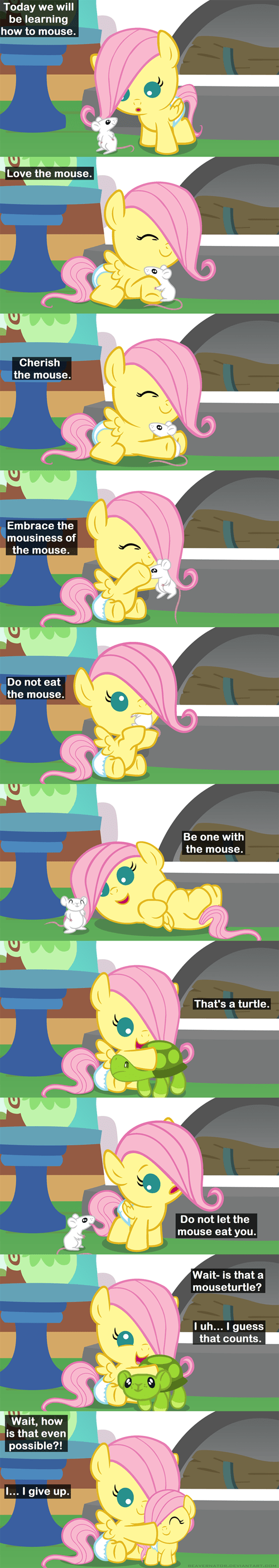 cute fluttershy squee mouse - 8417168128
