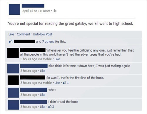 school,whoops,embarrassing,books,the great gatsby,failbook,g rated