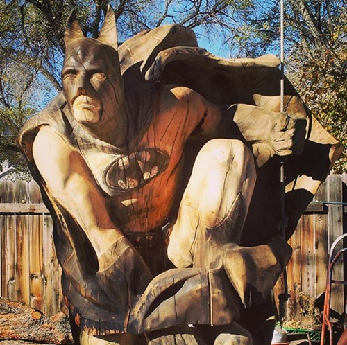 chainsaw,art,carving,batman
