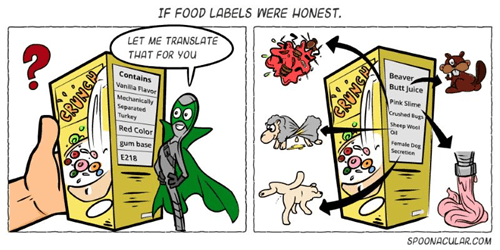 sad but true,honesty,food labels,web comics