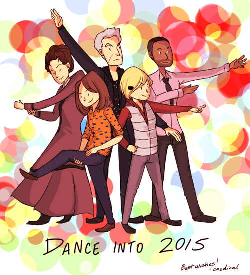 new years cute 12th Doctor dance - 8417858560