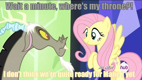 enough is enough mane 6 discord fluttershy - 8418504192