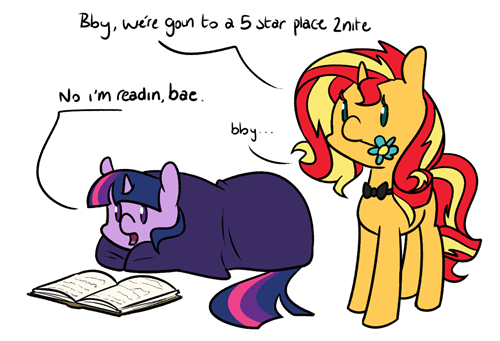 twilight sparkle,otp,sunset shimmer