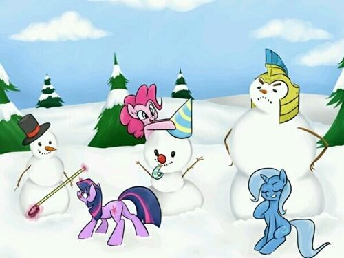 snow party snowmen MLP - 8418755328