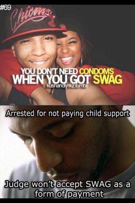 swag idiots pregnant funny - 8418847488