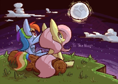 manly tears ponify to the moon rainbow dash - 8418877440