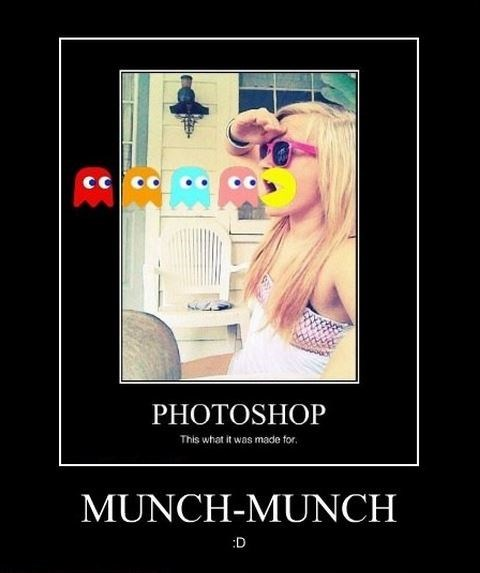 photoshop,funny,ghosts,pac man