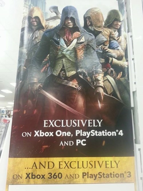 assassins creed exclusive assassin's creed unity