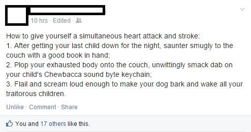 scary,kids,bedtime,chewbacca,parenting,facebook,g rated