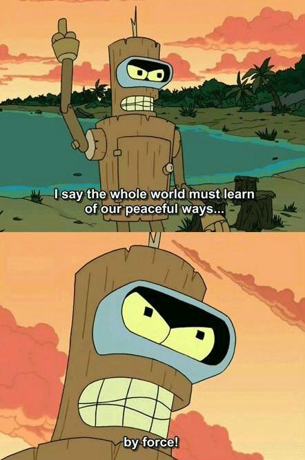 Bender is a True 'Murican