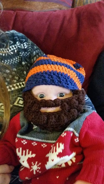baby,beard,poorly dressed,parenting,beard hat,g rated