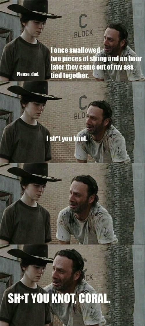Walking Dad Jokes Rick Grimes puns - 8419170048