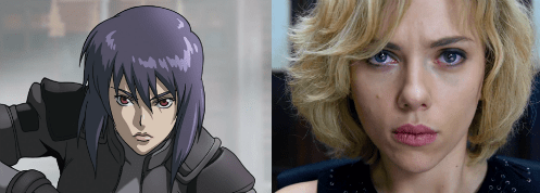 scarlett johansson,anime,movies,ghost in the shell