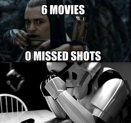 legolas star wars stormtrooper Lord of the Rings The Hobbit