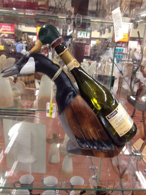 bottle holder ducks wine funny - 8419257600