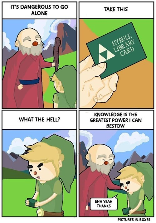 the legend of zelda library knowledge zelda web comics - 8419388160