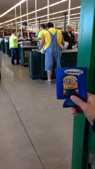 minions,poorly dressed,totally looks like,overalls,g rated