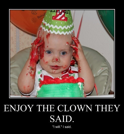scary baby clown funny - 8419401216