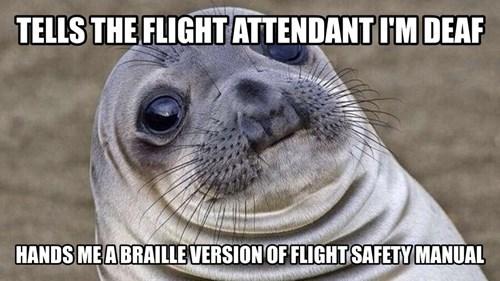 awkward situation seal awkward seal deaf - 8419419136