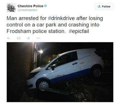 twitter drunk driving irony police - 8419528192