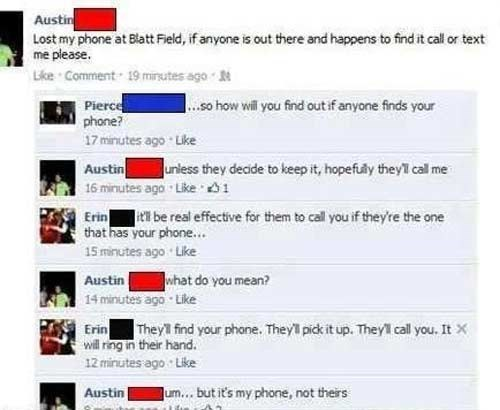 lost and found facepalm phone failbook g rated - 8419534080