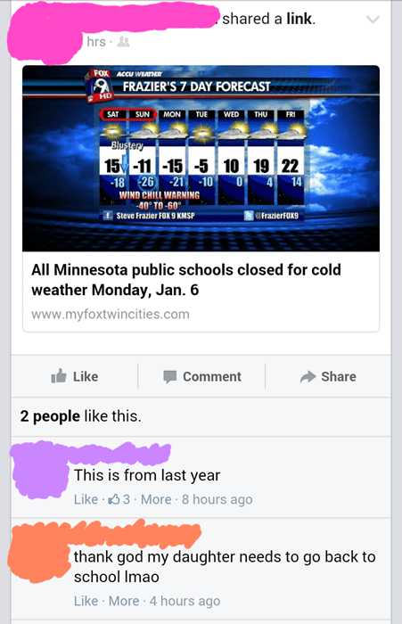 school,facepalm,weather,parenting