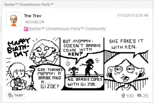 Miiverse,Barbie,barbie dreamhouse party
