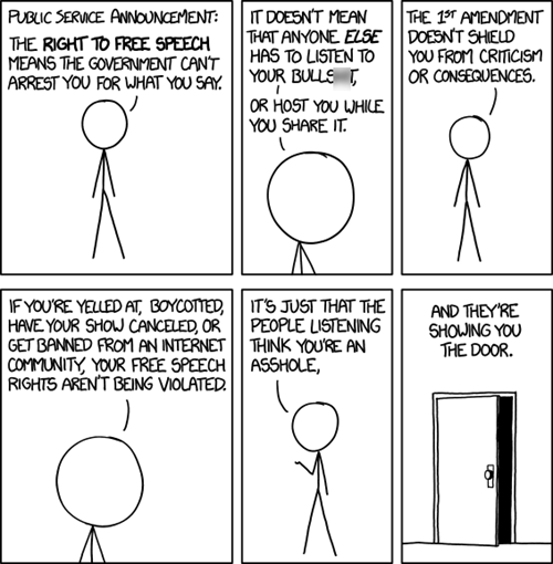 A Reminder About The Right to Free Speech