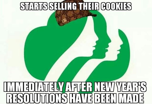 girl scout cookies girl scouts Scumbag Steve - 8420235264