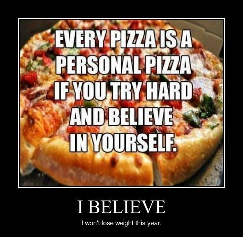 new years pizza resolution funny - 8420489728