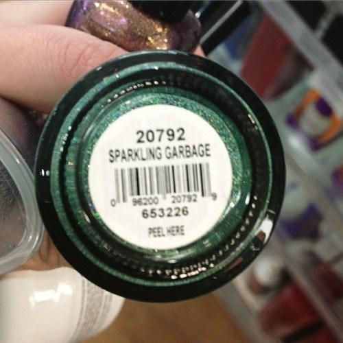 garbage nail polish sparkly poorly dressed - 8420828928
