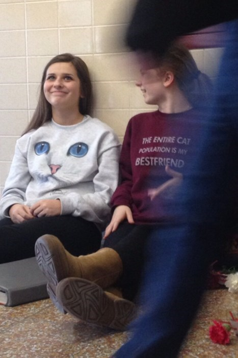 poorly dressed sweatshirt friends Cats g rated