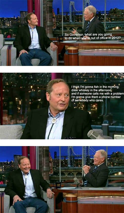 Montana,brian schweitzer,David Letterman