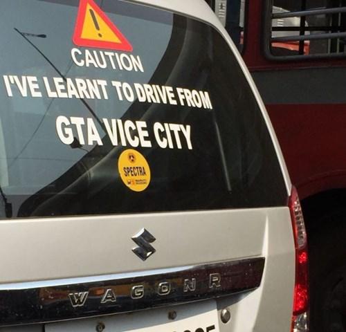 bumper stickers Grand Theft Auto driving - 8420931840